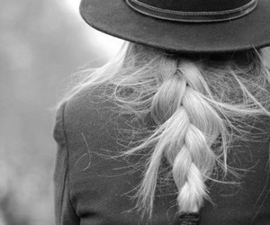 hair, hat, and blonde image