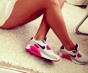 air max, sneakers, and girl image