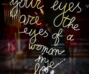 amour, eyes, and kiss image