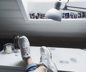 white and sneakers image