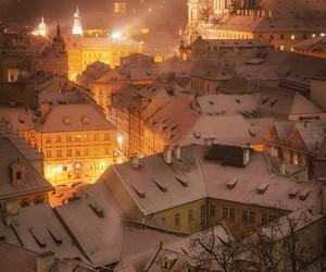 christmas, city, and travel image