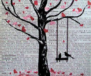 art, bird, and heart image