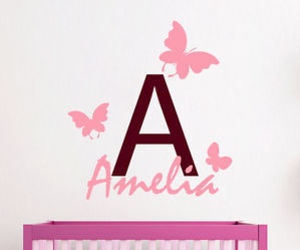 butterfly, wall decals, and girl room decor image