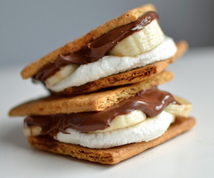 food, chocolate, and smores image