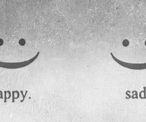sad, happy, and smile image