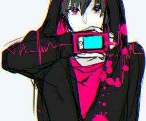 anime, pink, and anime boy image