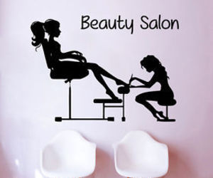 pedicure, wall decals, and beauty salon image