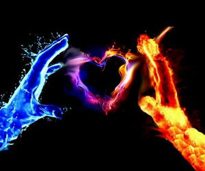 fire ice heart image