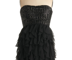 black, formal, and ruffles image