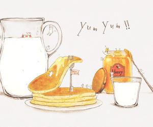 art, breakfast, and honey image