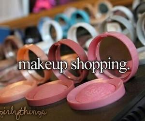 shopping, makeup, and justgirlythings image