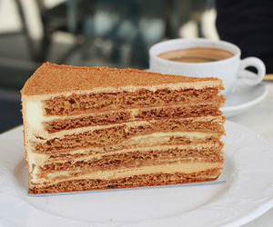 cake, food, and coffee image