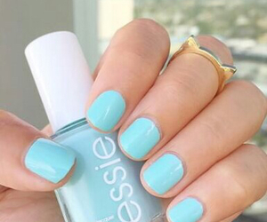 essie, nails, and blue image