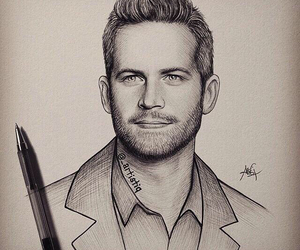 paul walker, drawing, and art image