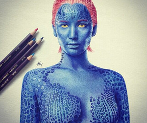 Jennifer Lawrence, mystique, and x-men image