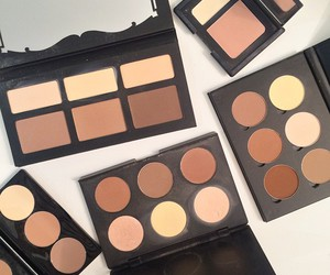 makeup, beauty, and contour image