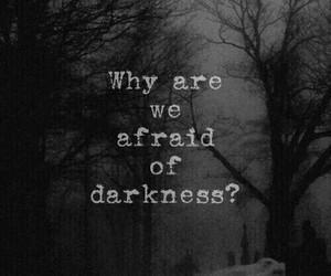 Darkness, dark, and afraid image