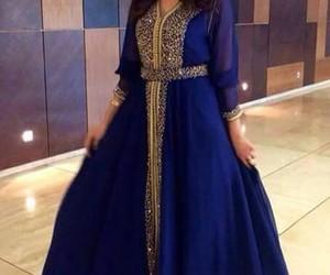 caftan, blue, and maroc image