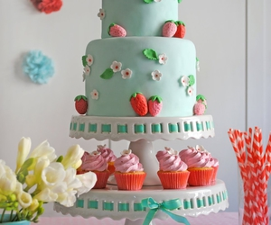 cake, cupcakes, and food image