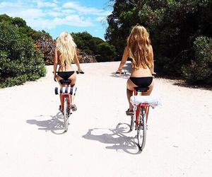 beach, bikini, and road image