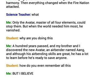 funny, school, and aang image