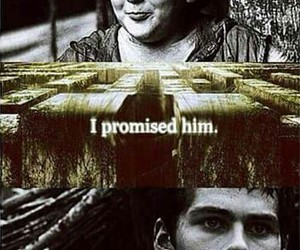 the maze runner, chuck, and thomas image