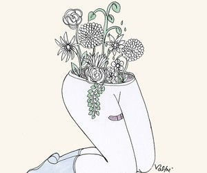flowers, legs, and valfre image