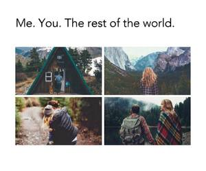 love, travel, and world image