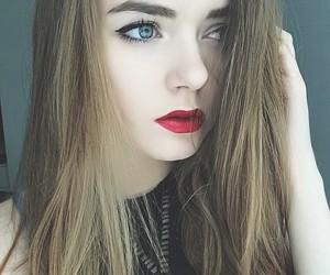 beautiful, hair, and lipstick image