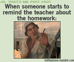 homework, school, and funny image