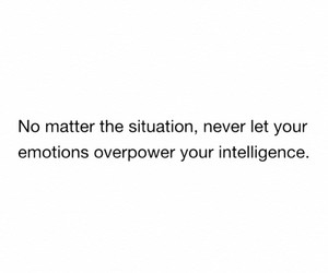 emotions, intelligence, and quote image