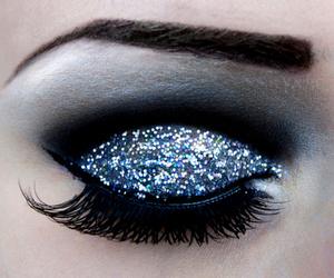 beautiful, glitter, and make up image