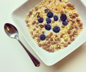 abs, blueberries, and brekfast image
