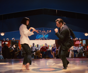 pulp fiction, John Travolta, and uma thurman image