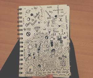 black, doodles, and draw image