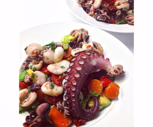 dinner, foodie, and octopus image
