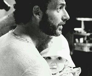the walking dead, rick grimes, and judith grimes image