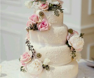 wedding, cake, and wedding cake image