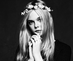 Elle Fanning and flowers image