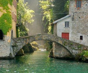 italy, bridge, and travel image