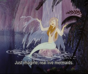 mermaid, disney, and peter pan image