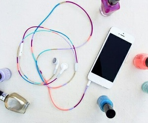 diy, iphone, and headphones image