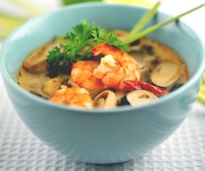 mushroom, shrimp, and soup image