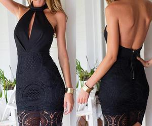 black, dress, and noir image