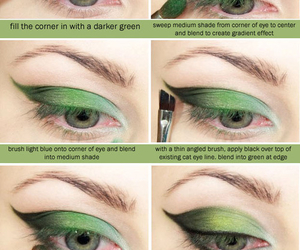 green, makeup, and make up image