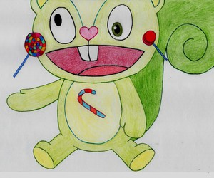 drawing, happy tree friends, and htf image