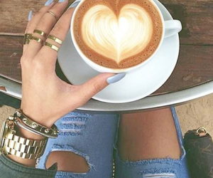 coffee, heart, and nails image
