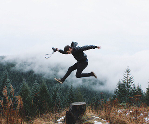 nature, boy, and jump image