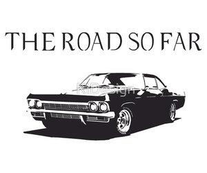 car, impala, and supernatural image