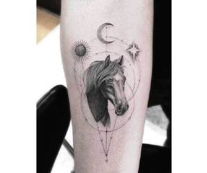 horse, luna, and moon image